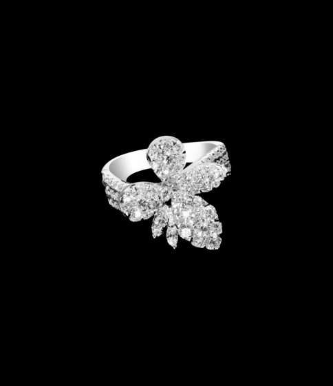 Butterfly diamond ring small