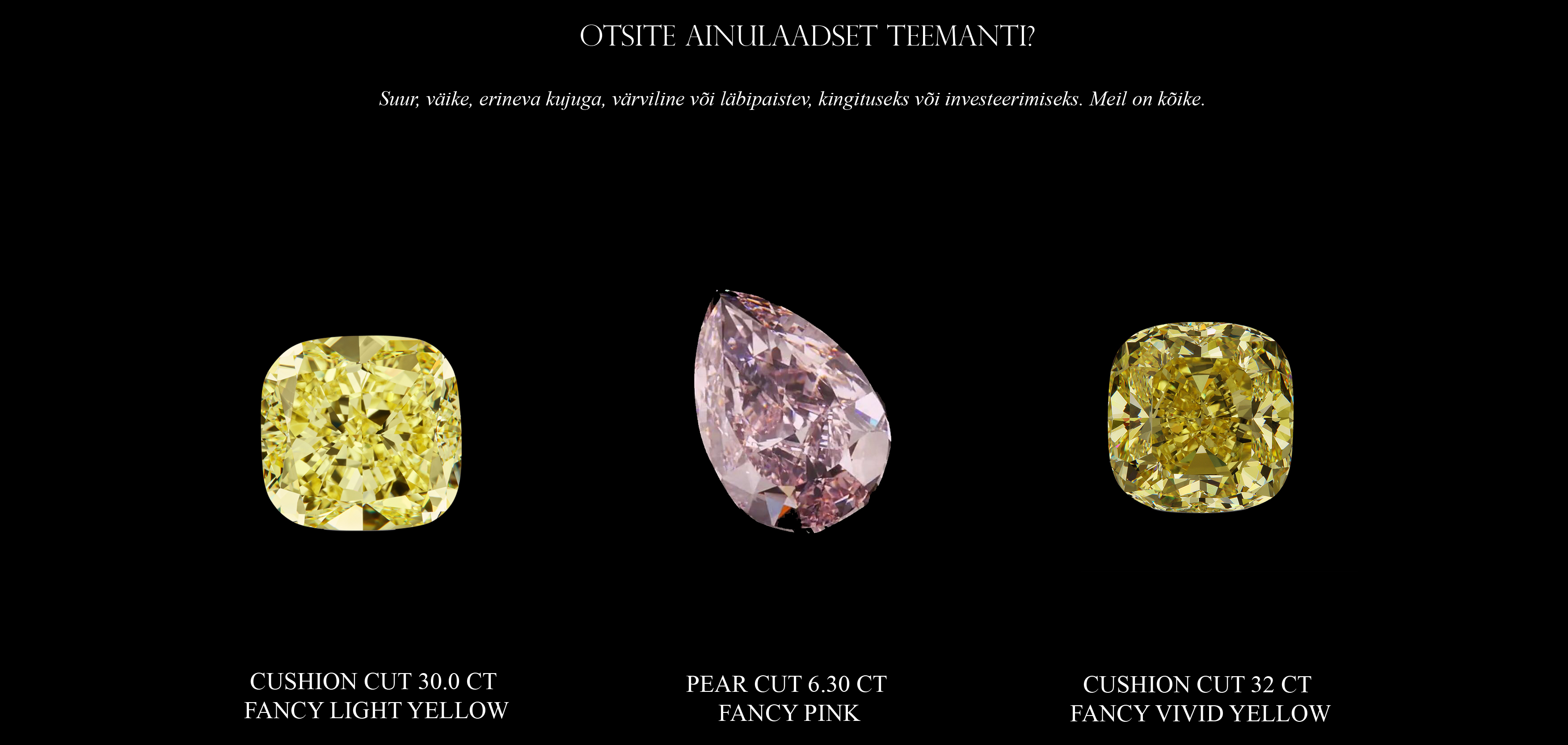 Fancy color diamonds YELLOW PINK copy