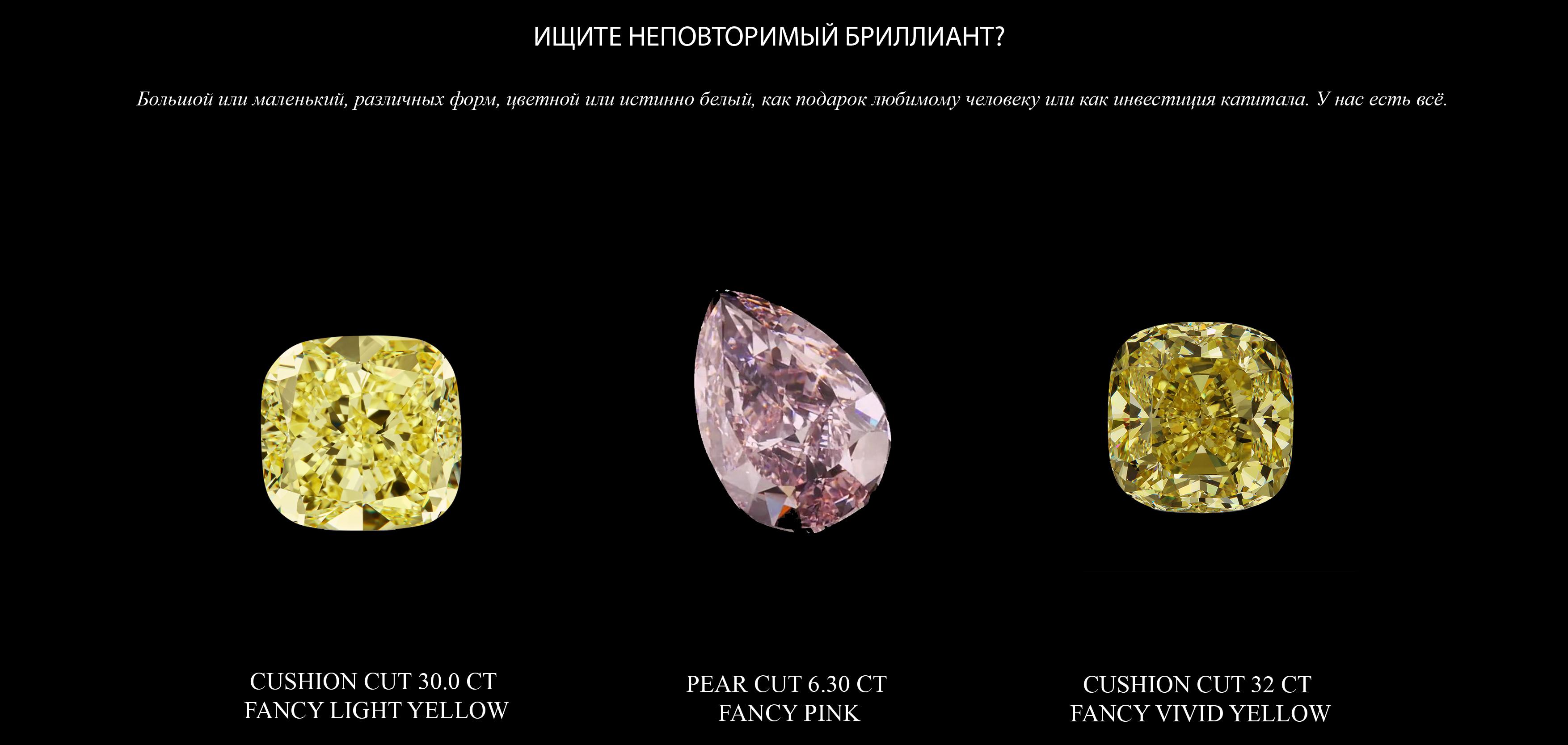 Fancy color diamonds YELLOW PINK copy rus